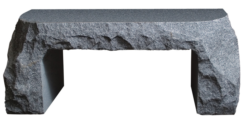 Gray Bench Grave Stone