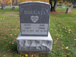 Dougall tall upright old style Tombstone gray barre