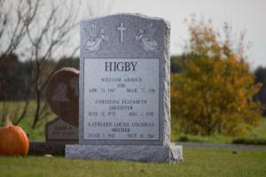 Higby Grave stone Serp top Brp 2.0X0.6X3.0