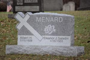 Menard 3.0x0.6x2.0 Cross Die Gray Barre Headstone