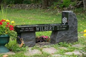 Wilbert- Jet black bench special   grave stone