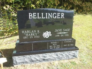 black tripple stack bellinger headstone wedding rings